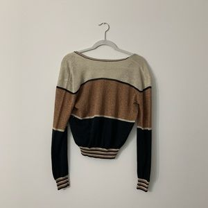 Free People Tops - Free People Colorblock Gold Dust Sweater Top